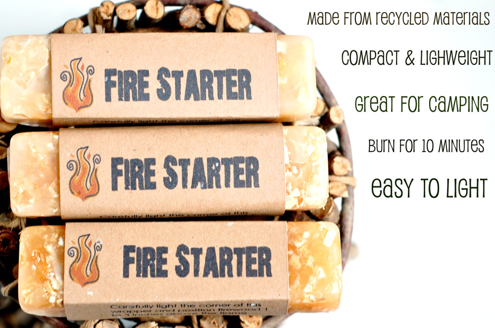 Fire starter with text
