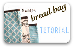 Bread bag tutorial button